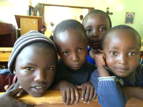 children at the mission house in Lanet