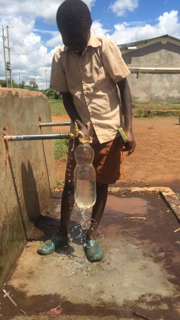 Getting maji or water from a tap