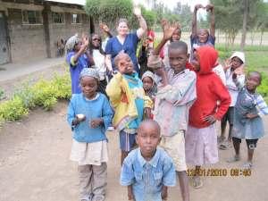 Where we are: Nurse Jaime helping children in Kenya