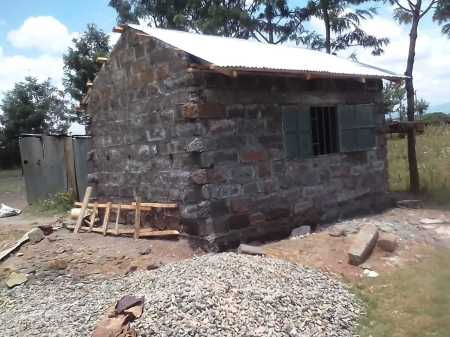 exciting developments of Kateri's Kitchen - a stone building that is almost completed!