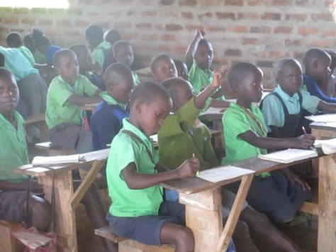 challenge of being in class without a uniform - children fitting in with their classmates