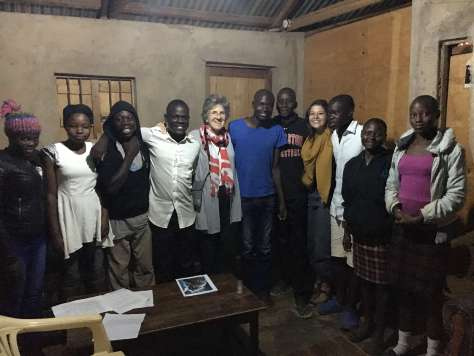 value added mentorship students with Tracy & Ruth in Rongo