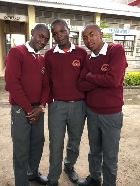 Three BEDSS Mentorship boy students