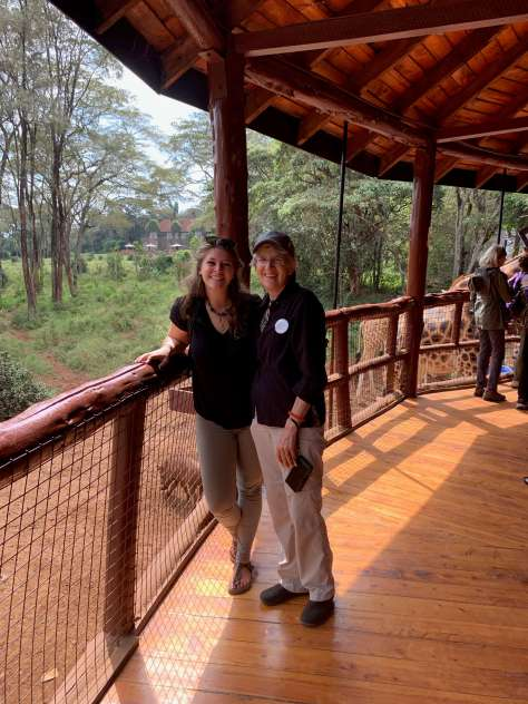 Tracy & Ruth at the Giraffe Center in Nairobi - a value added moment