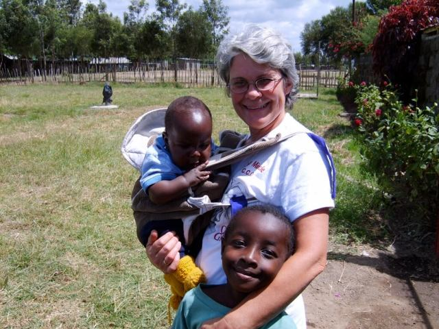 missionary with Kenyan children