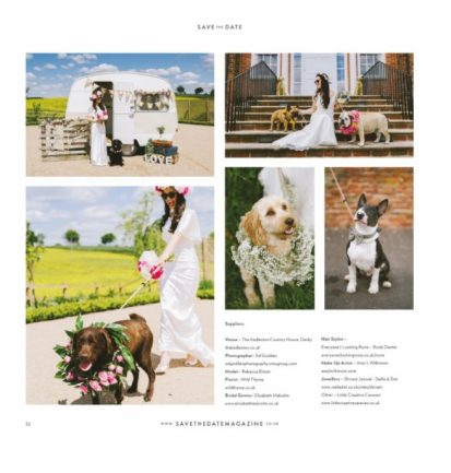 Hurley's and everyoneslookingrosie feature in save the date magazine