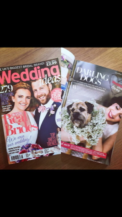 Hurley's feature in wedding magazine