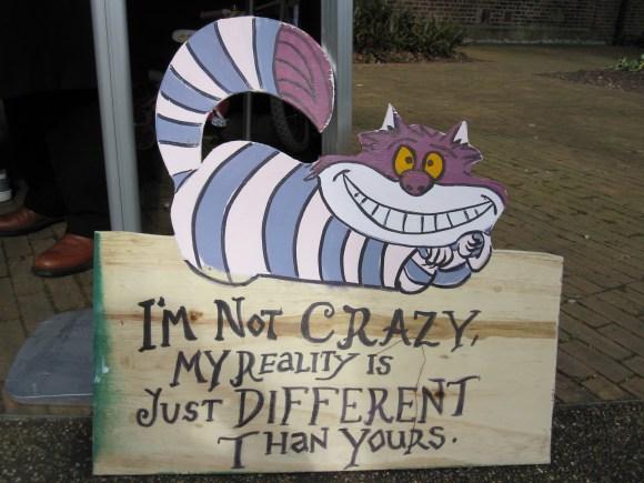 Cheshire cat sign