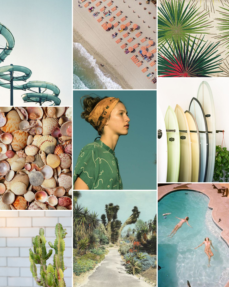Green And Pink Moodboard // Weekend Playlist