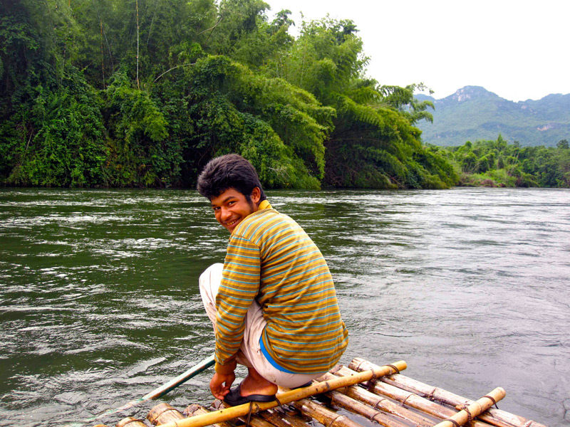 raft tour guide in thailand
