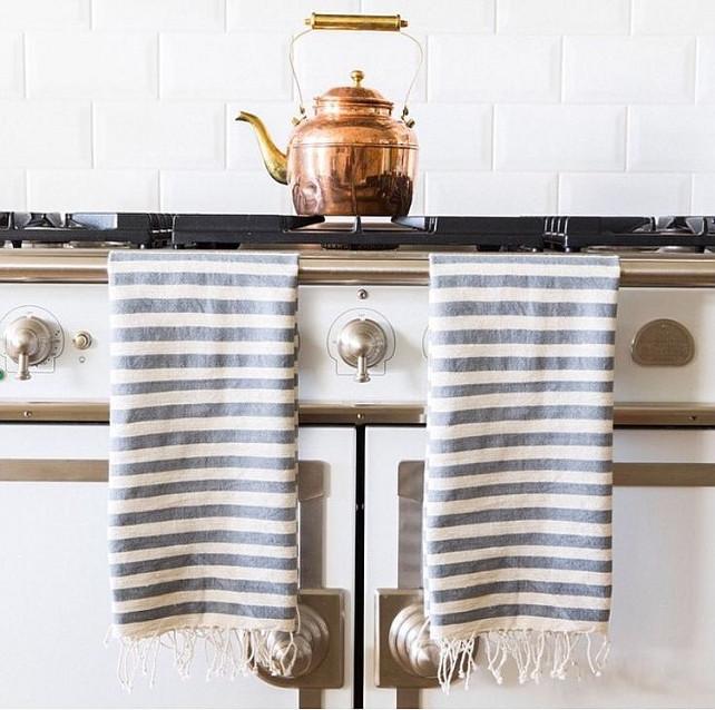 turkish towels // french kitchen