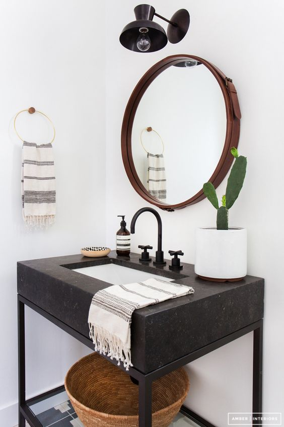 turkish towels // modern bathroom