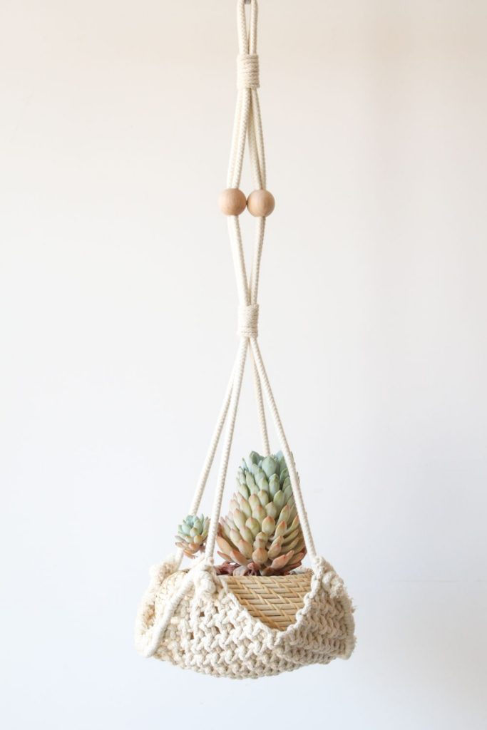casulo wall art / boho modern hanging planter