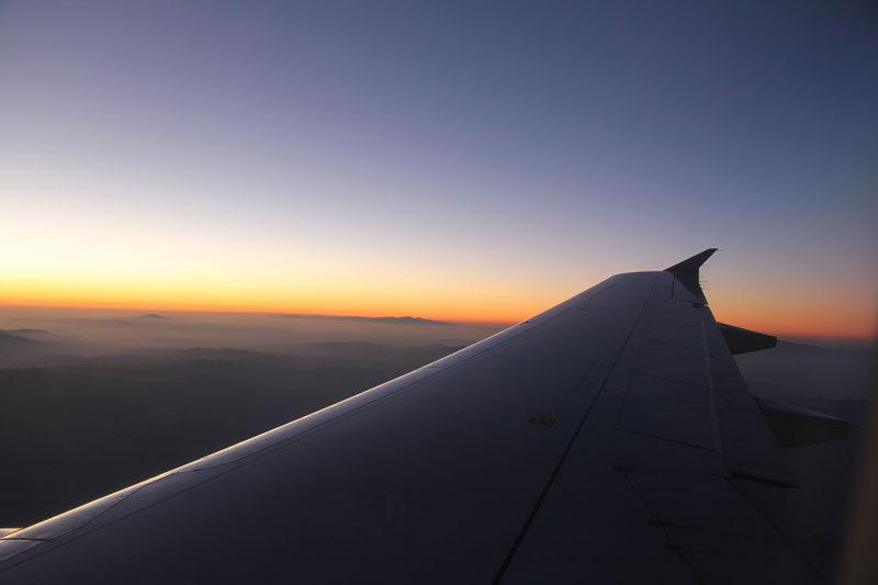 flying home from zurich, switzerland