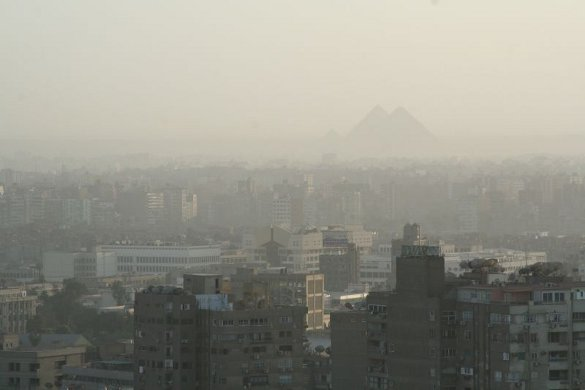 Humankind's most fabulous achievements, shrouded in pollution - Courtesy Nina Hale