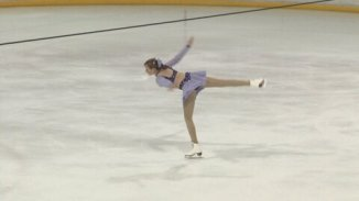 low quality picture of a spin at a competition circa 2011