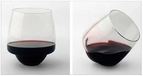 spill proof wine glass