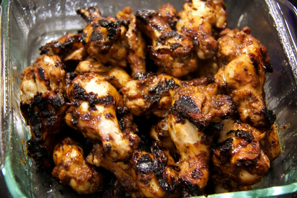 Chicken wings fresh off the grill!