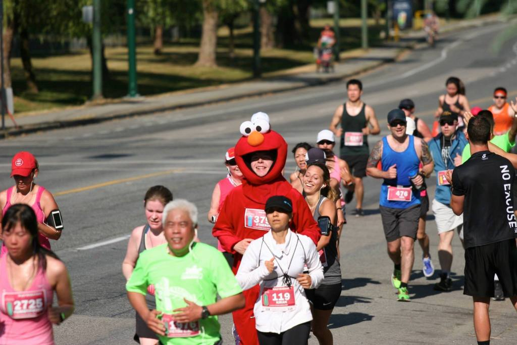 It must've been scorching in that Elmo costume! - Photo by Carmen Marin