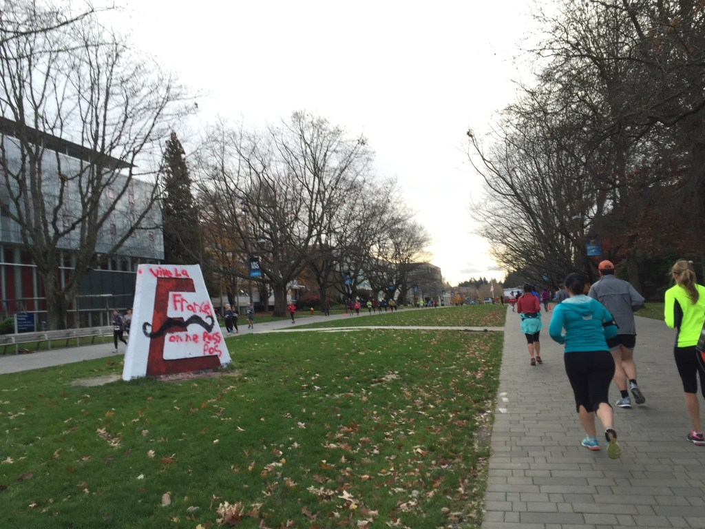 Running along Main Mall - Fall Classic Half Marathon