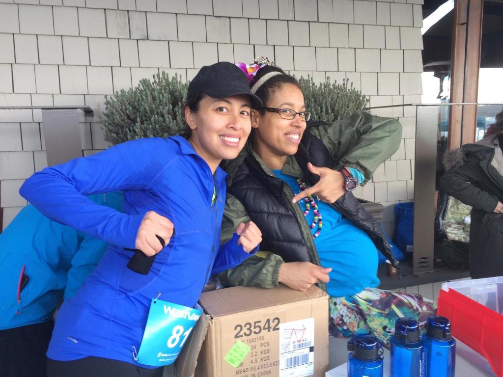 Karin Femi of Ready 2 Run Training and I