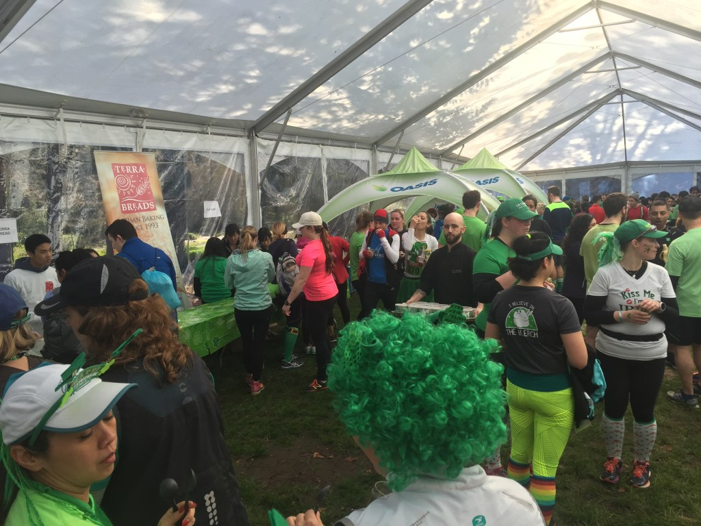 Inside the food tent at the BMO St. Patrick's Day 5k 2016