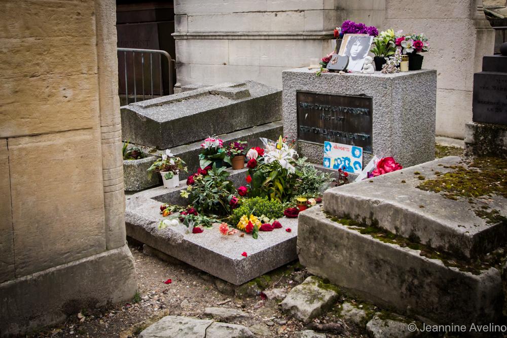 Jim Morrison's final resting place - Pere Lachaise