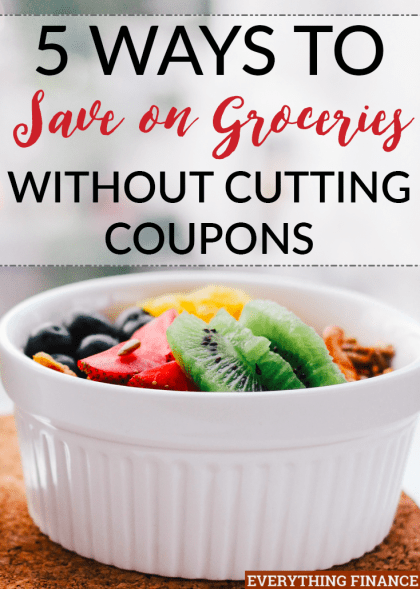 Don't have the time or desire to clip coupons like crazy? Save money on groceries without cutting coupons - the smart way - with these 5 tips.