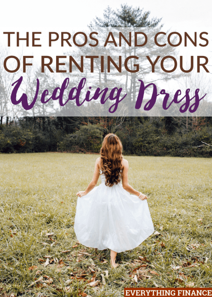 Renting your wedding dress can be cheaper than buying it, but does it really pay? Here are the pros and cons to think about before renting your dress.