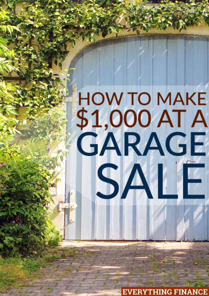 I have an annual garage sale where I always make $1,000 or more by the end of it. Here's how I make $1,000 in just one day, so you can host your own!