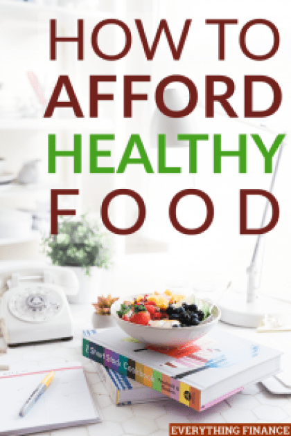 Healthy food doesn't have to bust your budget. There are lots of ways you can save money and afford healthy food for your family.