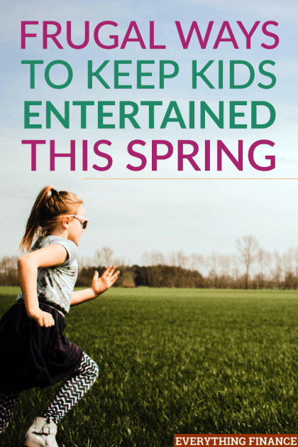 There many frugal ways to keep kids entertained so you don't have to spend a lot. Here are some ideas you can use this spring to keep kids entertained.