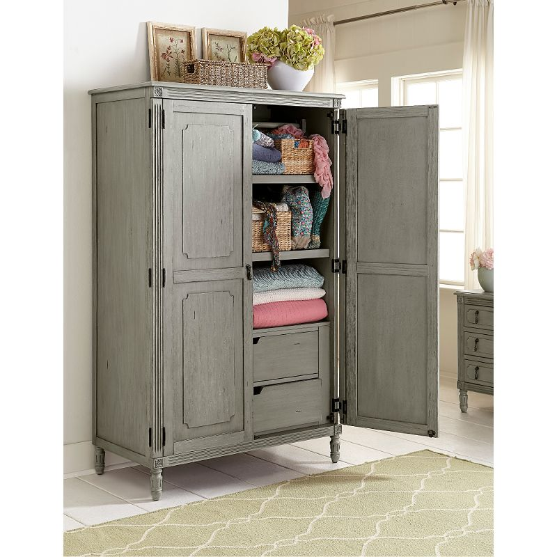 classic antique gray armoire aviana