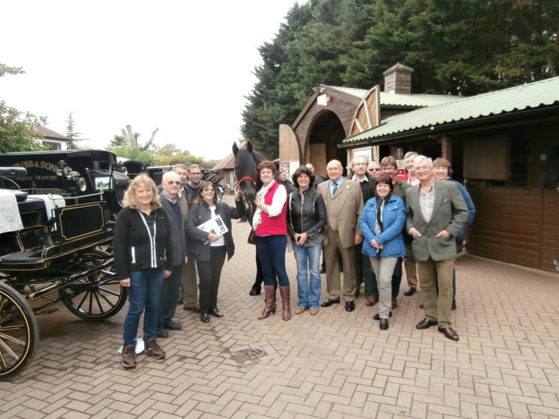 SMS Members enjoying their visit to T. Cribb and Sons Funeral Directors and Carriage Masters.