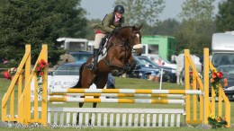 Alberta' Elegance (Milli) showjumping at Little Downham, image credit Thoroughbred Sports Photography