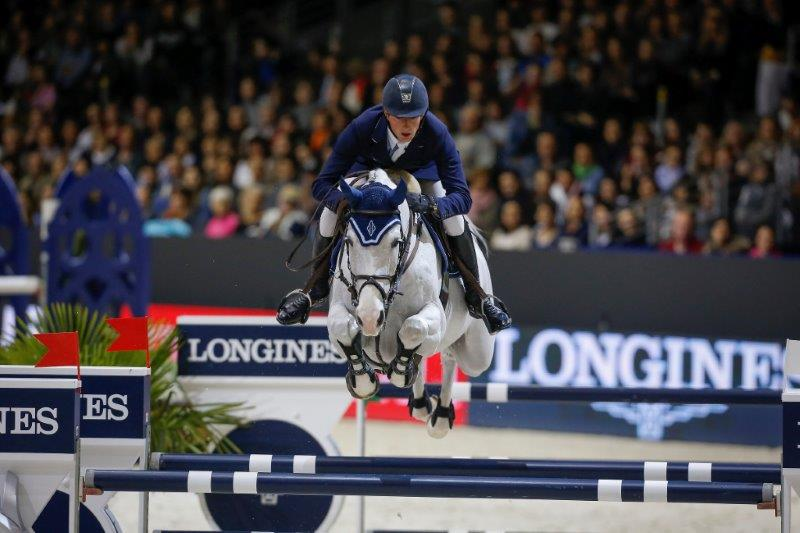 Germany's Daniel Deusser and Cornet d'Amour, winners of the Longines FEI World Cup™Jumping Final 2014 in Lyon, organised by GL Events, the company that will be organising the dual FEI World Cup™ Finals 2018 in Paris following today's allocation by the FEI Bureau. (FEI/Dirk Caremans)