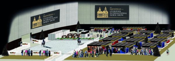 Liverpool International Horse Show - Practise arena