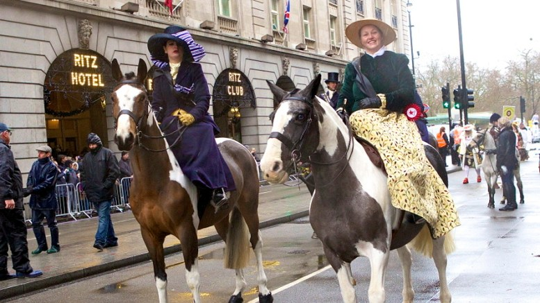 All The Queens Horse's Side Saddle riders. Photography by Jo Monck