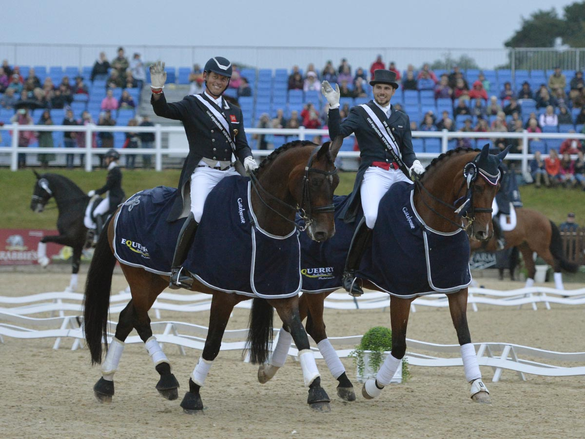 Olympic Dressage The winners Carl Hester and Charlie Hutton