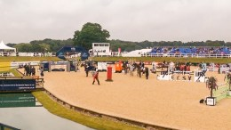Irish Rider Marion Hughes Fights Off International Competition at Bolesworth This afternoon's CSI4* 1m35 class started as the heavens opened for Bolesworth International.