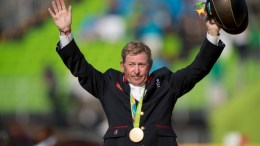 Nick Skelton made Olympic history when becoming the first ever British rider to win individual Jumping gold at Deodoro Olympic Park in Rio de Janeiro today. (Dirk Caremans/FEI)