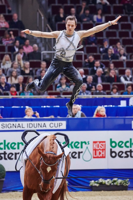 FEI World Cup Vaulting - Daniel Kaiser (GER), winner of the FEI World Cup™ Vaulting 2015/16 individual male title, who will be looking to retain his crown this season (FEI/Liz Gregg)