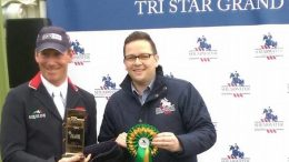Tri-Star Grand Slam - Oliver Townend being presented at the first leg last year