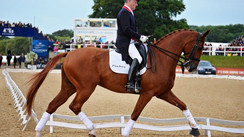Richard Davison competing at Bolesworth International
