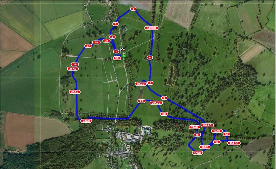 2017 Badminton Horse Trials course, Eric Winter's course route