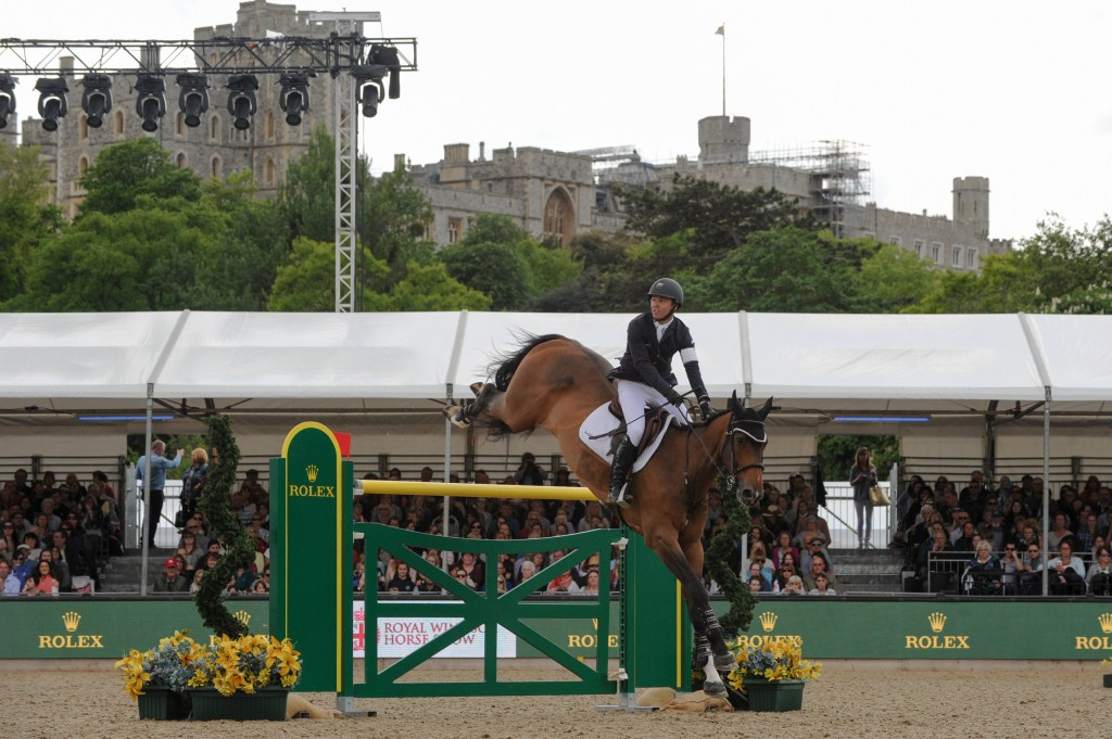 Kent Farrington and Sherkan D'Amaury winners of the Rolex Grand Prix CSI5* at the Royal Windsor Horse Show in the private grounds of Windsor Castle in Windsor in Berkshire in the UK between 10th-14th May 2017. Image credit Kit Houghton/Horsepower