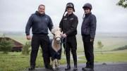 L-R World Horse Welfare's Alan Cooper, Pamela, AP McCoy and World Horse Welfare groom, Becca Hatcher