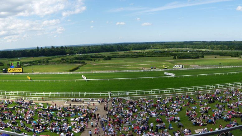 Food at the Races. Image Ascot Racecourse panoramic view
