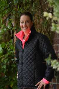 The reversible Inverno modelled by Charlotte Dujardin, from Hi-Viz brand, Equisafety
