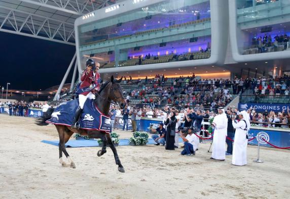 Bassem Hassan Mohammed wins Longines Global Champions Tour Grand Prix of Doha - image Stefano Grasso/LGCT